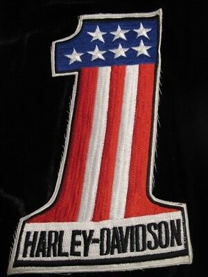 Harley-davidson Red White & Blue American Flag #1 patch