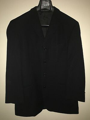 Hugo Boss Black Blazer Sports Coat Einstein 42S 100% Virgin Wool 4 Button $369