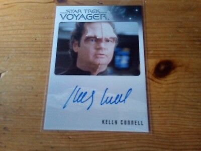 Star Trek Voyager Heroes & Villains Autograph Card Of Kelly Connell