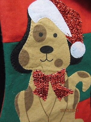 Pet Christmas Stocking Dog Santa Hat Happy Puppy House Pet Characters Gift Pooch