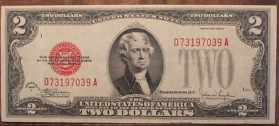 1928 F Two Dollar United States Note Crisp Unc. Red Seal $2.00 US Currency