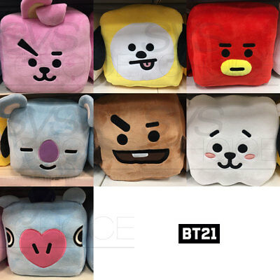 BTS BT21 Official Authentic Goods Cube Cushion by Home Plus + Tracking Number