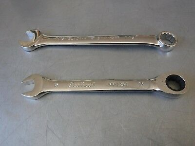 NEW BLACKHAWK BW-1264 RATCHETING 15mm COMBINATION WRENCH & BW-1165FP 11/16