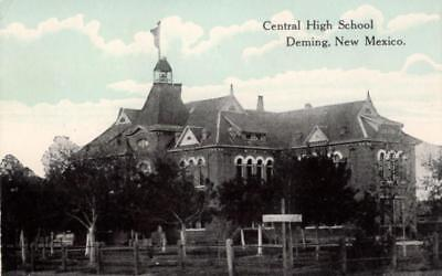 Deming, New Mexico - The Central High School - c1909 - Vintage Postcard