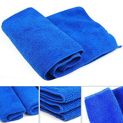 10X Blue Cleaning Auto Car Detailing Soft Cloths Wash Towel Duster Clothing