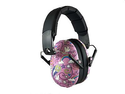 Baby BANZ Earmuffs Kids Hearing Protection Pink Peace Doodle