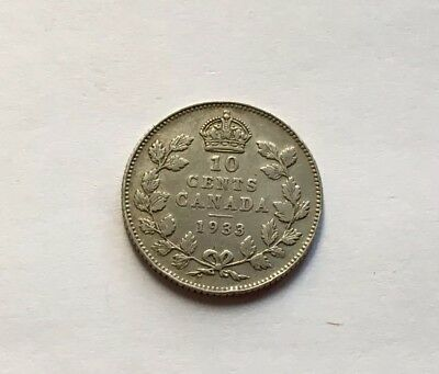 Canada 10 Cents 1933