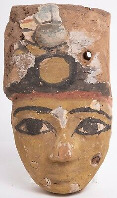 Ancient Egyptian Mummy Wood Mask c.664-332 BC.