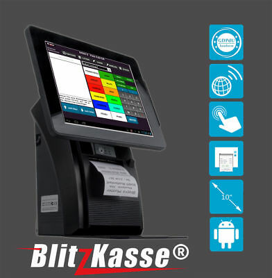 ALL-in-ONE Kassensystem f moderne Betriebes  BLITZKASSE EXPRESS GoBD ANDROID SYS