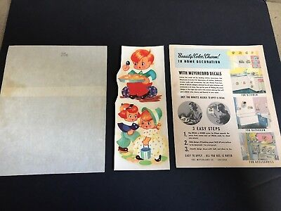Vintage & rare complete Meyercord decals, Instruction card, original wrapper GC