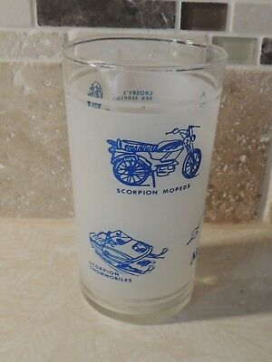 Minnesota Drinking Glass-Map=Crosby, Ironton,& Deerwood attractions- Snowmobile