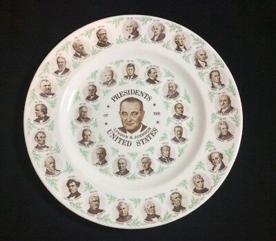 Vintage Lyndon B Johnson Presidential Collectors Plate