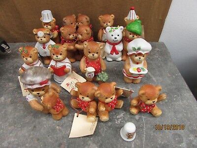 Vintage Lucy and Me Bears Lot of 14 Holiday Christmas bears -Enesco
