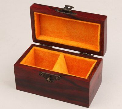 Red Wood Collection Hand-Carved High-End Gift Jewelry Box Seal