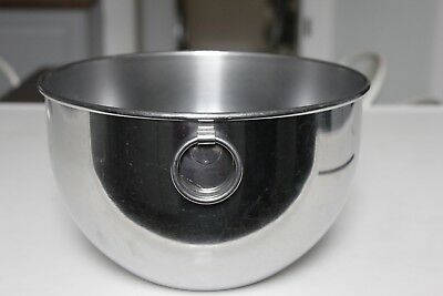 """REVERE WARE Large 6 Quart Stainless Steel Mixing Bowl """"O"""" Ring Double Circle"""