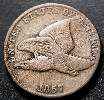 1857 Flying Eagle Cent - Vg Very Good