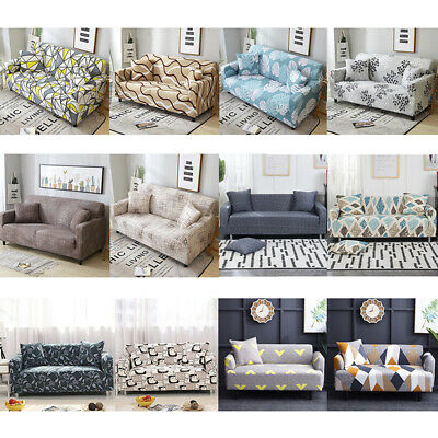 1-4 Seat Universal Sofa Couch Cover Corner Elastic Stretch Slipcover Easy Instal