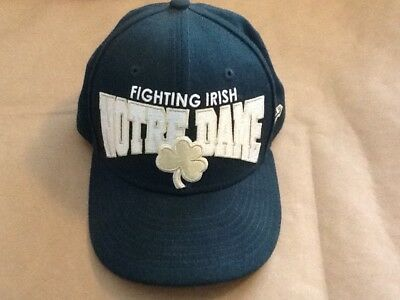 "Notre Dame GREEN Fighting Irish hat cap Fitted 7-1/4"" 100% Wool New Era 59Fifty"