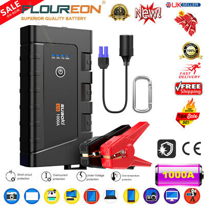 12000mAh 500A Car Jump Starter Emergency Auto Battery Charger Booster Power Bank