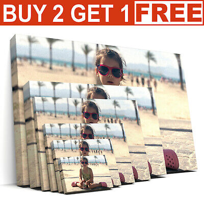 Personalised Photo on Ready to Hang Canvas Print A1 A2 A3 A4 A5 Framed Large Box