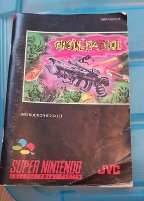 Ghoul Patrol - Super Nintendo SNES Original Instruction Manual Only