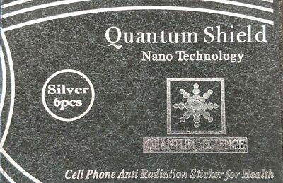 Qty 6 Cell Anti Radiation Stickers EMF Protection Quantum Shields Silver Color