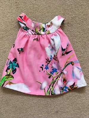 Ted Baker Baby Girls Teddy Bear Dress Pink Oasis Handmade Floral