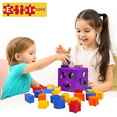 ETI Toys   19 Piece Unique Educational Sorting Matching Toy for Toddlers. Colorf