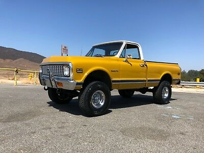 1972 Chevrolet C-10 K10 4x4 Custom Shortbed 1972 Chevy K10 4x4 Short Bed Truck Southern California