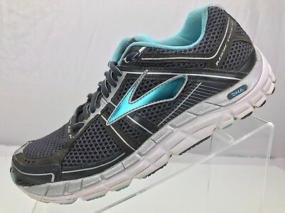 e3fd813fee6 Brooks Addiction 12- Control Running Training Athletic Shoe Women s 9B  Grey Blue