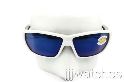 6a93e19ea5d New Costa Del Mar TUNA ALLEY Polished White Blue Polarized Sunglasses TA 25  OBMP