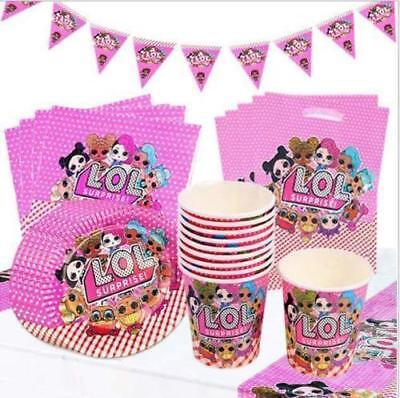 LOL Surprise Doll  Birthday Party Supplies Cups / Plates / hats / Napkins ETC