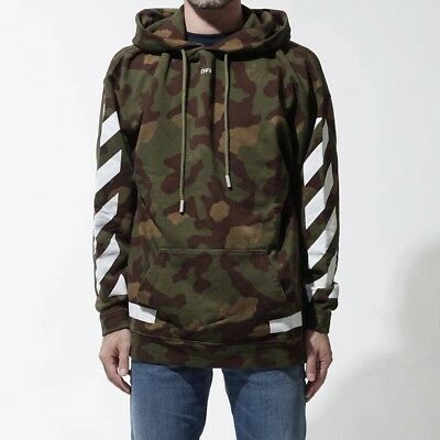 Authentic Off White Off White Camo Hoodie Seeing Things Size Medium