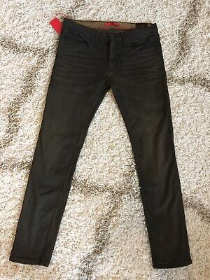 62fa4f6c HUGO BOSS JEANS 734 (Skinny Fit) Black Japanese Denim 50321206 ...