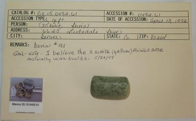 Pre Columbian Large Jade Bead w/ Museum Provenance