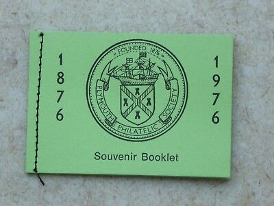 Plymouth Philatelic Society Vintage Souvenir Stamp Booklet 1876 -1976 Stamp Shop