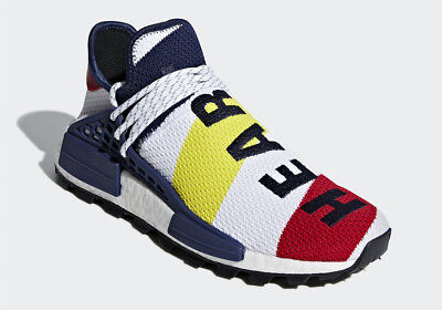 new styles 03005 9558a ADIDAS PHARRELL X NMD HUMAN RACE 'BBC' - SCARLET/WHITE/MULTIC - BB9544