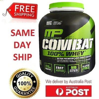 MUSCLEPHARM COMBAT 100% WHEY PROTEIN POWDER WPI WPC MUSCLE PHARM MP 2/5lbs 2.2kg
