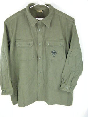 Boy Scouts of America BSA Olive Green Wool Jac-shirt Jacket DISCONTINUED XXXXL