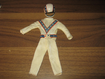 Evel Knievel by Ideal jumpsuit/belt/helmet decent shape needs cleaning
