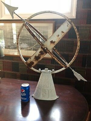 Vintage Sundial Large Zodiac Base Cast Metal & Copper Garden Home Decoration