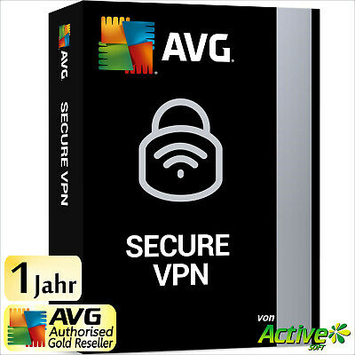 AVG Secure VPN 2019 1 PC 1 Jahr Vollversion | Internet Security | Privatsphäre