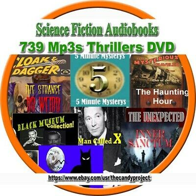 Science Fiction 739 MP3 3 DVDs Inner Sanctum Haunting Hour Creaking Door