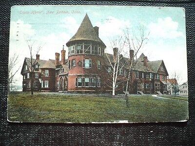 """Post Card : New Britain, Ct.,  '"""" Erwin Home"""" . Colombia 6 Bar Cancel On Reverse"""