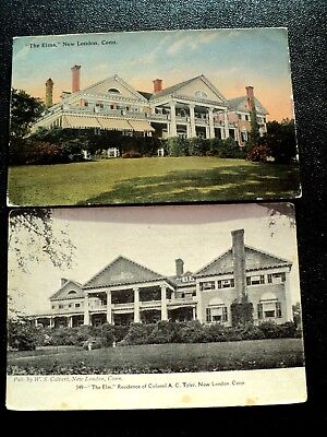 """Post Cards : New London, Ct., """"the Elms"""" Residence Of Colonel., A.c. Tyler"""