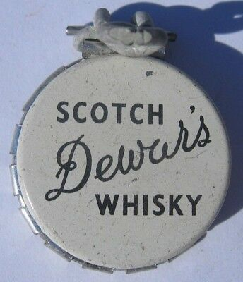 Dewar's Scotch Whisky Kork-N-Seal Soda Bottle Cap Re-Sealer; Perth, Scotland