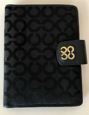 COACH BLack Address Book and Notepad Holder