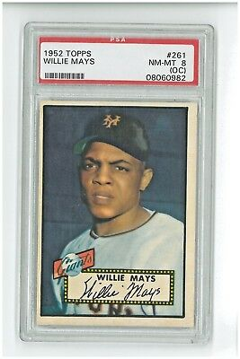1952 Topps Willie Mays #261 Psa 8 (Oc) Nm-Mint - Check Scans Finish Your Set