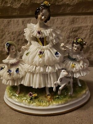 Dresden figurine lace