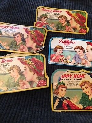 Vintage Sewing Needle Packs - Colorful & Collectible